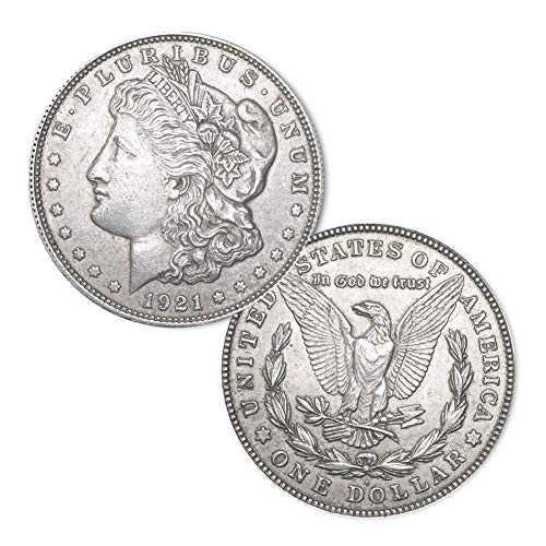 (1921 D Morgan Silver Dollar $1 Brilliant Uncirculated)