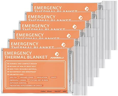Emergency Blanket Weightless  Highly Visible Hiking Camping  1m x 2m