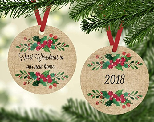 Manor Home Gifts - Christmas Ornament - First Christmas in Our New Home 2018