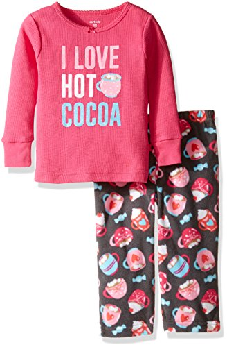 Carter's Baby Girls' 2 Pc Fleece 337g151, Hot Cocoa Pink, 18M by Carter's
