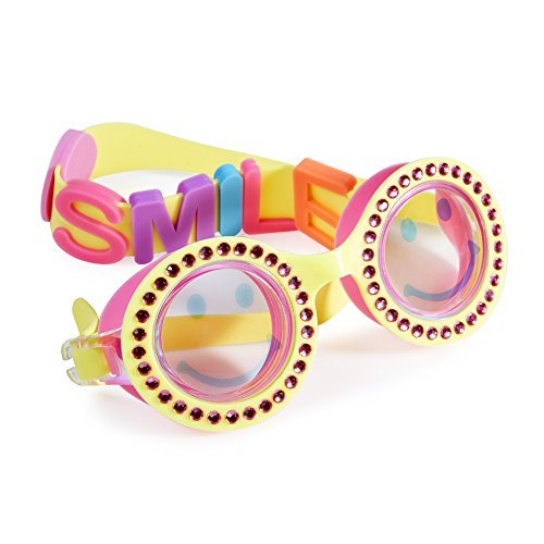 [Swimming Goggles For Girls - Be Happy Kids Swim Goggles By Bling2o (Sunshine Yellow)] (Red Baron Baby Costume)