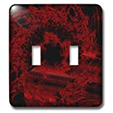 3dRose Digital Art by Brandi - Wreath of Fire - Abstract red fire - Light Switch Covers - double toggle switch (lsp_289214_2)