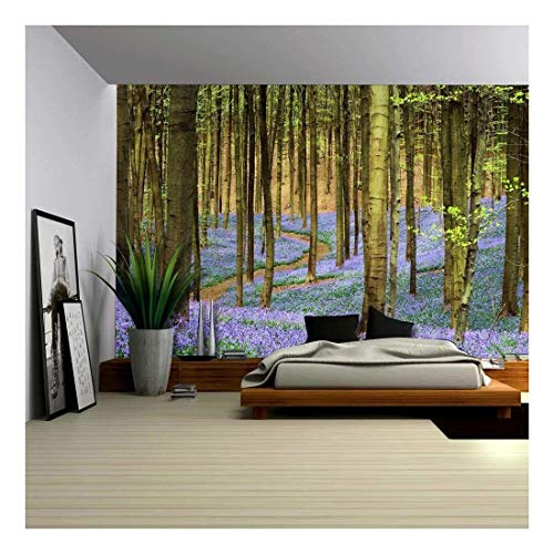 Forest of Bluebell Flowers in the Spring Time Wall Mural