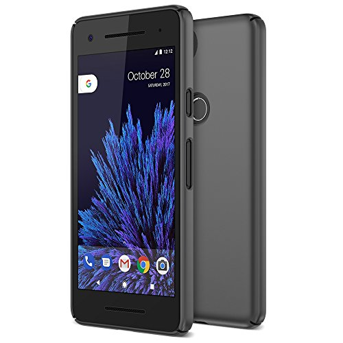Google Pixel 2 Case, Maxboost [mSnap Series] Thin Cases [Perfect Fit] [Black] EXTREME Smooth Surface with Anti-Slip Matte Coating for Excellent Grip Hard Protective PC Covers for Google Pixel 2 (2017)