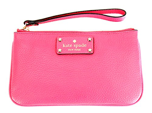 Kate Spade Berkshire Road Zippered Chrissy Pebble Leather Wristlet (Caberet Pink)
