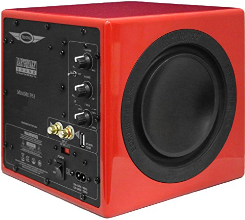 Earthquake Sound MiniMe-P63 Compact 6.5-inch Powered Subwoofer with Dual Passive Radiators, Red (Subwoofer Radiator compare prices)