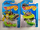 2014 Hot Wheels Hw City - The Simpsons The Homer & The Jetsons Capsule Car - Lot of 2!