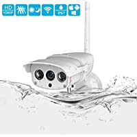 INKERSCOOP 1080P Outdoor Security Camera Wireless IP Camera IP67 Super Waterproof WiFi Security Surveillance System with Night Vision And Motion Detection