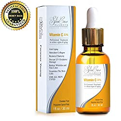 Best Vitamin C Serum For Face With 20% Hyaluronic Acid by SkinCare Glamour-This Topical All Natural Anti-Aging Product Is Filled With Organic Ingredients That Focus On The Removal Of Wrinkles, Fine Lines and Age Spots. Boost Your Collagen With This Professional Skin Care Serum Packed With A Super Punch Of Vitamin C&E. Works For All Skin Type, Even If Its Sensitive. Add To Cart Now! Looking Young Has Never Been Easier!