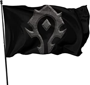 Wehoiweh World of Warcraft for The Horde Garden Flag Double-Sized Print Decorative Holiday Home 3x5 Ft Flag