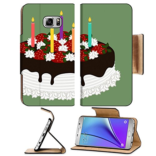Liili Premium Samsung Galaxy Note 5 Flip Pu Leather Wallet Case Happy Birthday Chocolate Cake Note5 Image ID 22077374