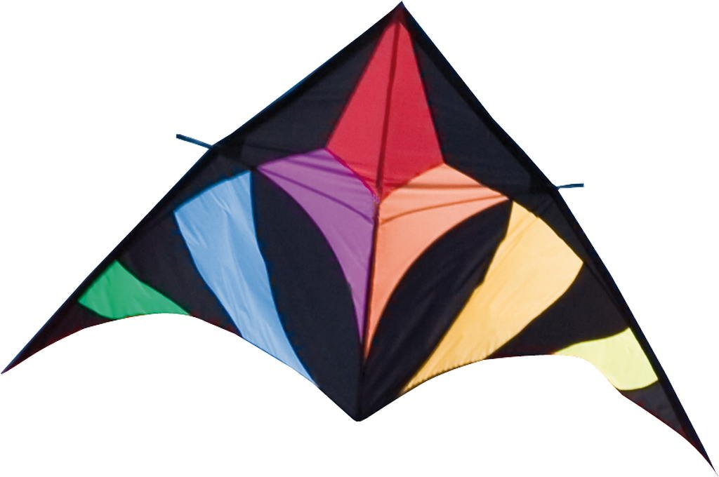 HQ Flowtail Delta 600 XL-  79 Inch Single - Line Sport Kite,  Color: Rainbow - Active Outdoor Fun for Ages 12 and Up