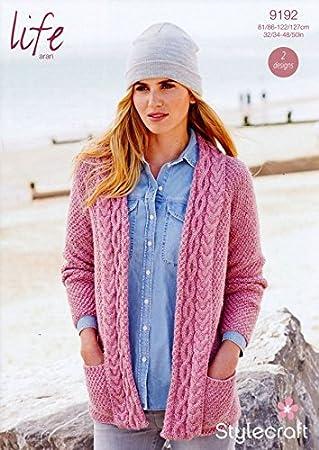 Stylecraft Strickmuster für Damen-Cardigan Life 9192: Amazon.de ...