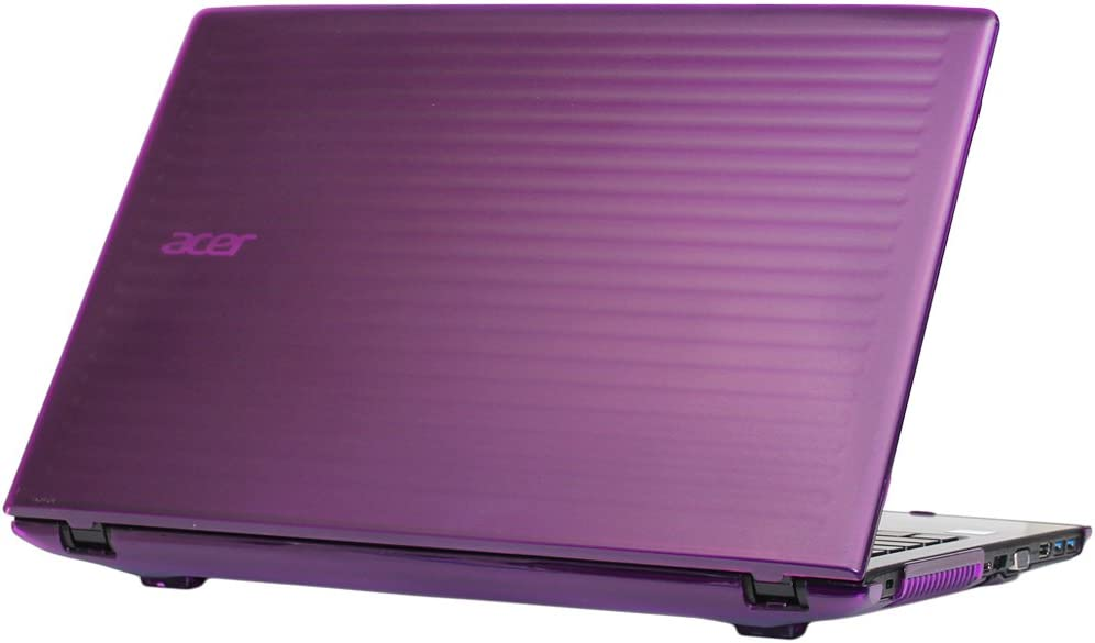 "mCover Hard Shell Case for 15.6"" Acer Aspire E 15 E5-575 / E5-576 Series Windows Laptop (Purple)"