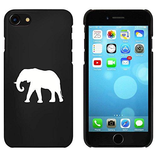 Noir 'Silhouette d'Éléphant' étui / housse pour iPhone 7 (MC00061029)