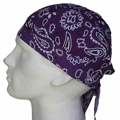 estampado de morado cachemir cabeza para color pañuelo pre atada con la diseño Bandana Azg8xnZ1q6