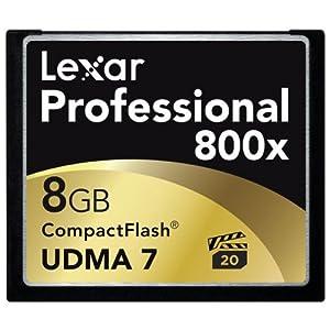 LEXAR MEDIA コンパクトフラッシュカード 8GB LEXAR Professional 800倍速シリーズ プロ仕様 UDMA 7 対応 並行輸入品