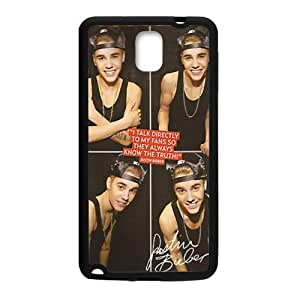 Justin Bieber's Smile Cell Phone Case for Samsung Galaxy Note3