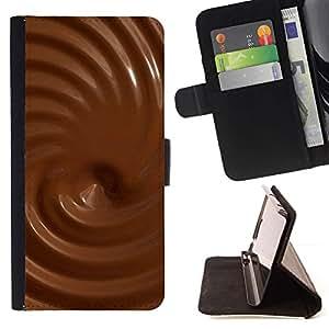 Momo Phone Case / Flip Funda de Cuero Case Cover - Texturas de chocolate - Apple Iphone 6