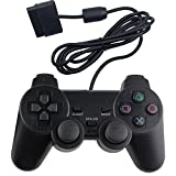 Kycola Wired PS2 controller GP01 Dual Shock Gamepad for Playstation 2 (Black)