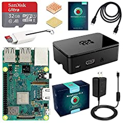 An exclusive Raspberry Pi 3 Model B Plus (B+) Starter Kit from ABOX that includes the fastest model of the Raspberry Pi family - everything you need to get up and running within minutes in the exciting world of Raspberry Pi!NOTE: The 32 GB Mi...