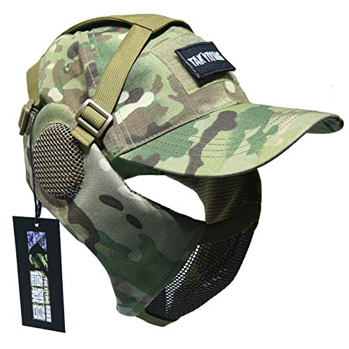 NO B Tactical Foldable Mesh Mask with Ear Protection for