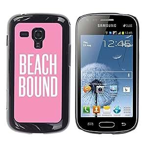 TopCaseStore / la caja del caucho duro de la cubierta de protección de la piel - Pink White Text Summer - Samsung Galaxy S Duos S7562