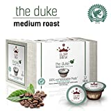 GLORYBREW - The Duke - 108 pack 100% Compostable Coffee Pods for Keurig K-Cup Brewers - Rainforest Alliance certified - Medium Roast | Better than Recyclable and Biodegradable Coffee Pods