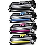 Konica Minolta Magicolor 1600w 1650en 1680mf 1690mf Replacement Compatible 4pack(c,m,y,k) Toner Cartridges, Office Central