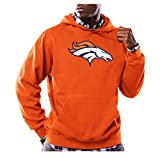 NFL Denver Broncos Men's Long Sleeve Tek Patch Hooded Fleece Pullover, XX-Large, Classic Orange