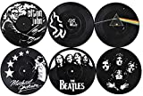 living room design ideas Our Casa Coasters For Drinks | Home Decor Music Coaster (6-Piece Set) With Vinyl Record Design | Gift For New Home, Housewarming, Indoor, Living Room Decoration | Black And White Design