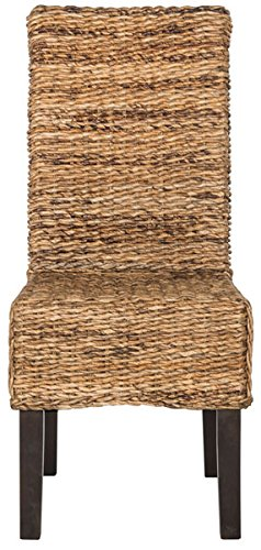 Large Natural Wicker - Safavieh Home Collection Avita Natural Wicker 18-inch Dining Chair (Set of 2)