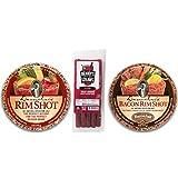 Bloody Mary Garnishing Kit - 2x Demitri's Flavored Rim Salt (Spiced Salt & Bacon Salt) - Benny's Bloody Mary Snack Straws - Pack of 5