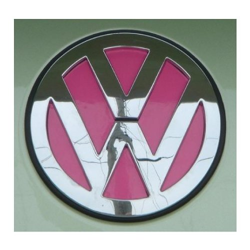 VW Emblem Insert Decal Stickers for Volkswagen Beetles 2011 and Older Hood AND Trunk (New Beetle Gear)