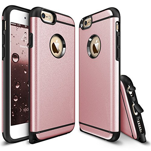 iPhone 6 Plus Case - Rinastore [Heavy Duty] Dual Layer Air Cushion Hard Plastic TPU Protective Case Bumper with Dust Plug Design for iPhone 6 Plus/6s plus (5.5 inch) (Rose Gold) (Louis Vuitton Iphone 4 Cover compare prices)
