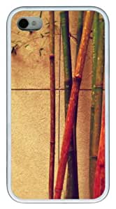 iphone 4 case thinnest Various colors of bamboo TPU White for Apple iPhone 4/4S
