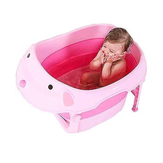 ALXLX Bañera Plegable De Plástico - Bañera para Bebés - Bañera ...