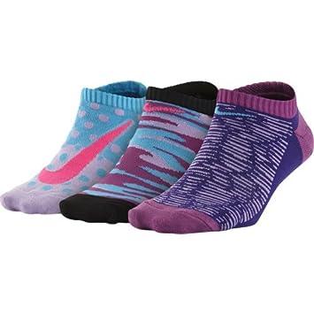Nike 3P Girls Graphic LTW CTN NO S - Pack 3 Pares de Calcetines para niña, Color Rojo, Talla M: Amazon.es: Deportes y aire libre