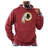 NFL Washington Redskins Men's Long Sleeve Tek Patch Hooded Fleece Pullover, Small, Dark Garnet