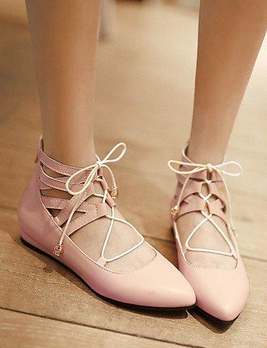 us10 aire Pisos negro rojo C de zapatos talón piel sintética cn43 libre Toe de rosa black punta uk8 casual 5 eu42 al 6 oficina PDX y plano carrera blanco mujer 5 7vqv4