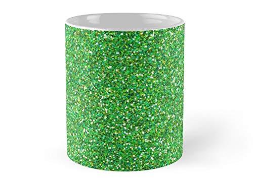 Shiny Glitter Sparkling Glitter Glow Green 11oz Mug - Best gift for family -