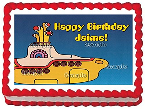 Sweet Candy Kisses-Yellow Submarine Edible Image Frosting Sheet/cake Topper