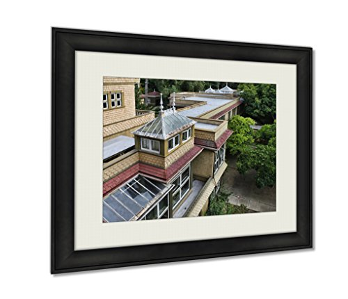 Ashley Framed Prints, The Winchester Mystery House, Wall Art Decor Giclee Photo Print In Black Wood Frame, Ready to hang, 20x25 Art, AG6535258