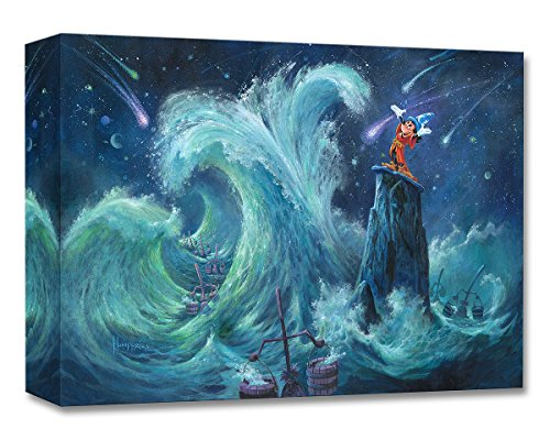 Mickey Creates the Magic - Treasures on Canvas - Disney Fine Art Fantasia Mickey Mouse