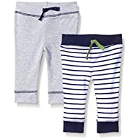 Yoga Sprout Baby 2 Pack Pants, Navy/Green, 0-3 Months