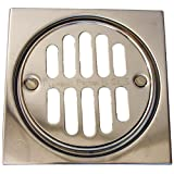LASCO 03-1245 Shower Drain Trim Kit with 3 1/2-Inch Grid Strainer and Screw Holes, 4-Inch, Chrome Plated