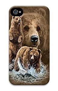 Find 10 Brown Bears Polycarbonate Hard Case Cover for iPhone 4/4S 3D