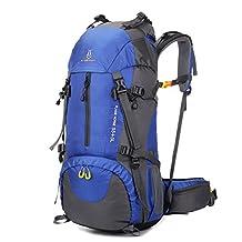 FLAMEHORSE 60L Waterproof Mountaineering Bag,Outdoor Hiking Backpack Travel Organizer Daypack