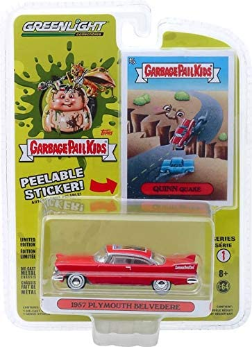 1957 Plymouth Belvedere 1:64 Scale Greenlight 54010-A Garbage Pail Kids Series 1 Quinn Quake