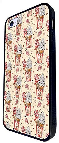 918 - Collage Candy Multi Candy Ice Cream Lolly Design iphone SE - 2016 Coque Fashion Trend Case Coque Protection Cover plastique et métal - Noir